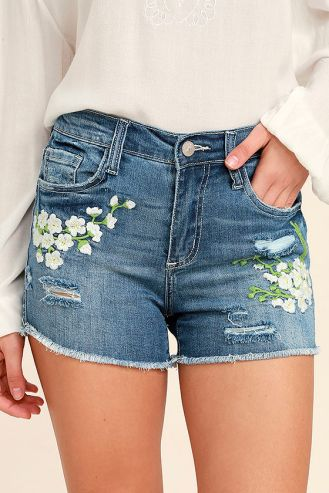 Lulus- Meadow Denim Shorts