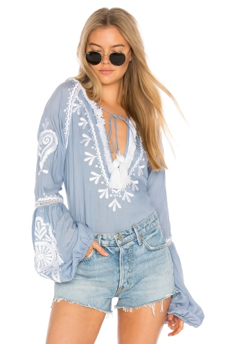 Revolve- Karina Embroidered Top