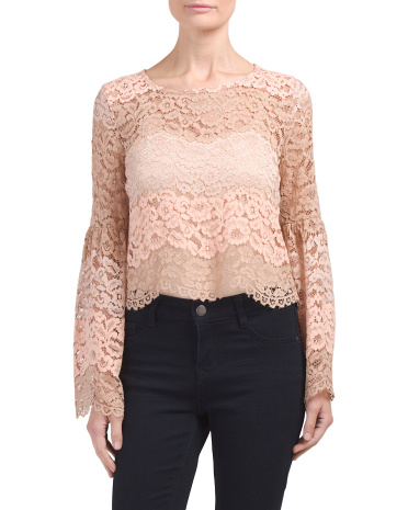 Time Stops Lace Top