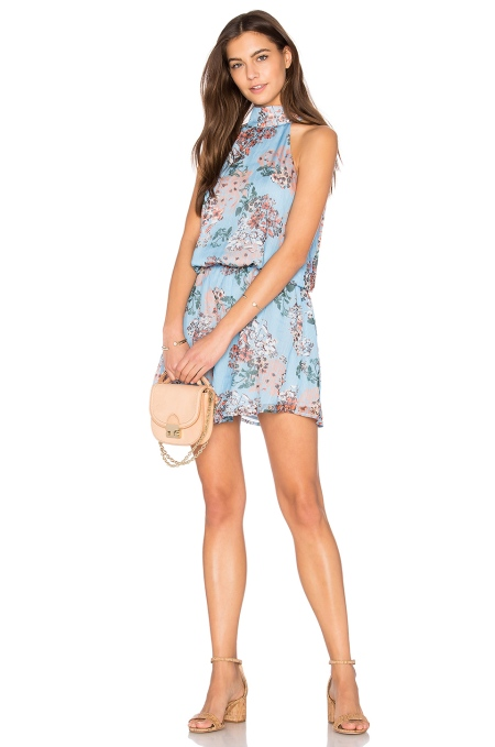 revolve blue floral dress