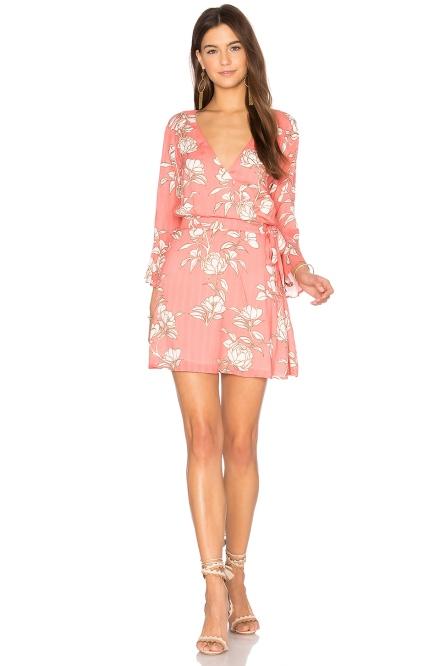 revolve pink floral dress