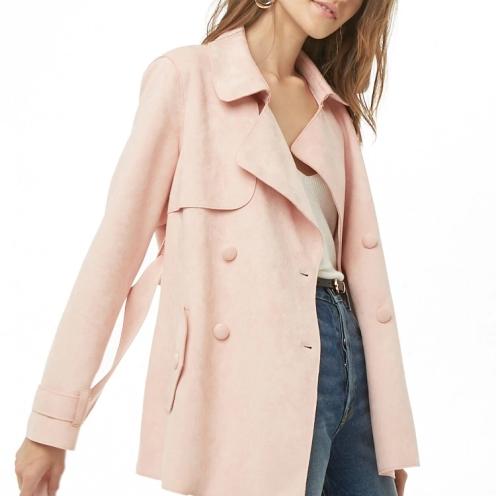 f21 suede coat